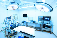 Equipment and medical devices in modern operating room Royalty Free Stock Image