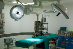 Equipment and medical devices in modern operating room Royalty Free Stock Photography