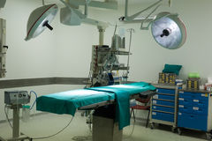 Equipment and medical devices in modern operating room Royalty Free Stock Photos