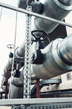 Equipment, metal heat pipes. modern industrial plant Stock Image
