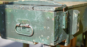 Equipment military old case box Stock Photography