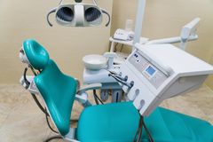 Equipment in Modern Dental Office royalty free stock photos