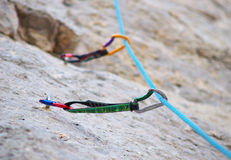 Equipment for mountain climbing Stock Image