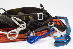 Equipment for  mountaineering Royalty Free Stock Images