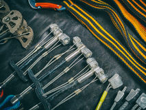 Equipment for mountaineering and rock climbing Stock Photography