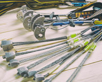 Equipment for mountaineering and rock climbing Stock Photo