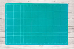 Equipment for office single tool green cutting mat Stock Image