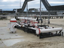 Equipment oil fields of Western Siberia Stock Photos