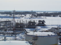 Equipment oil fields of Western Siberia Royalty Free Stock Photography