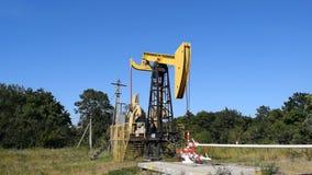 Equipment of oil wells. stock video footage