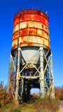 Equipment of the old broken and abandoned industries in city of Banja Luka - 1, silo tank for powder materials. Republic of Srpska, Bosnia and Herzegovina Royalty Free Stock Image