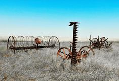 Equipment of Old. Equipment that stands alone from the old times Royalty Free Stock Images