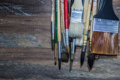 Equipment for painting and airbrush equipment - stock image Royalty Free Stock Photography