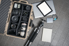 Equipment of photographers Royalty Free Stock Photo