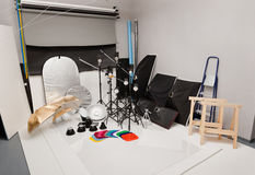 Equipment of a photographic studio Royalty Free Stock Photos