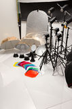 Equipment of a photographic studio Royalty Free Stock Photo