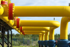 Equipment and pipes for a tranportirovka of natural gas Royalty Free Stock Image