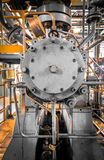 Equipment, piping as found inside of industrial Stock Photo