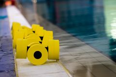 Equipment in the pool Stock Photography