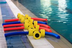 Equipment in the pool Royalty Free Stock Images