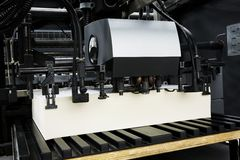 The equipment for a press. In a modern printing house royalty free stock photography
