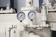Equipment pressure gauge Stock Image