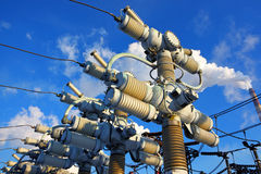 High-voltage electric equipment Stock Images