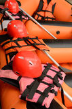 Equipment for rafting stock images