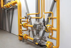 Equipment for a reduction of pressure of gas Royalty Free Stock Images
