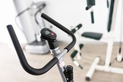 Equipment for rehabilitation in interior of physiotherapy clinic Stock Photos