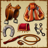 Equipment of the rider, sx vector items Stock Photos