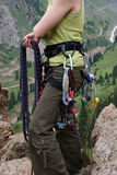 Equipment of the rock-climber Stock Photos