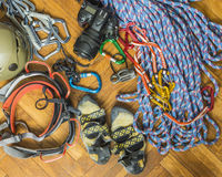 Equipment for rock climbing. Stock Photography