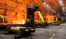 The equipment of the rolling mill for metal deformation Royalty Free Stock Photos