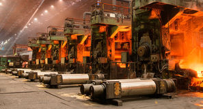 The equipment of the rolling mill for metal deformation Royalty Free Stock Image