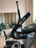 Equipment of the room of therapeutic physical training. Elliptical trainer. Royalty Free Stock Image