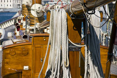 Equipment of a sailing boat Royalty Free Stock Photos