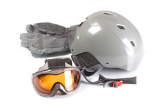 Equipment for snowboarding Royalty Free Stock Images