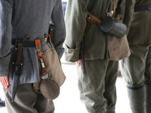 Equipment of soldiers from the First World War stock image