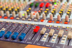 equipment for sound mixer control Royalty Free Stock Photos
