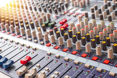 equipment for sound mixer control Stock Photo