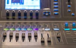 equipment for sound mixer control Royalty Free Stock Photos