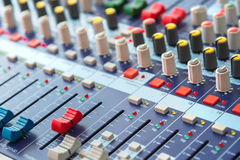 equipment for sound mixer control Royalty Free Stock Photo