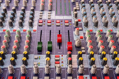 Equipment for sound mixer control Royalty Free Stock Images