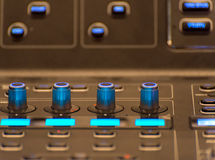 equipment for sound mixer control Stock Photos
