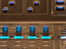 equipment for sound mixer control Stock Photos