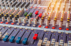 equipment for sound mixer control Royalty Free Stock Photography
