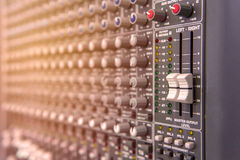 equipment for sound mixer control, electornic device. Stock Photos