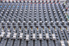 equipment for sound mixer control, electornic device. Stock Photography