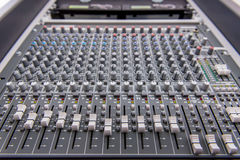 equipment for sound mixer control, electornic device Stock Photos